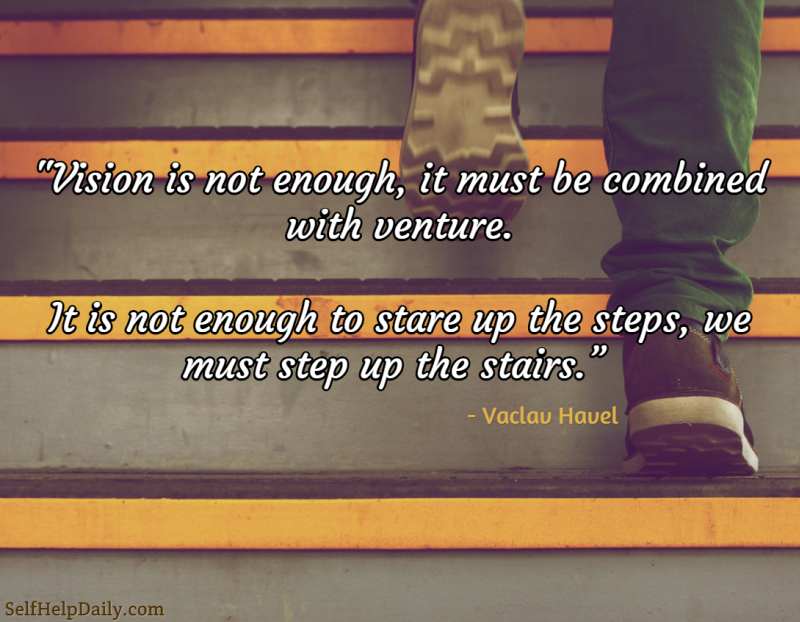 Action Quote About Taking a Step
