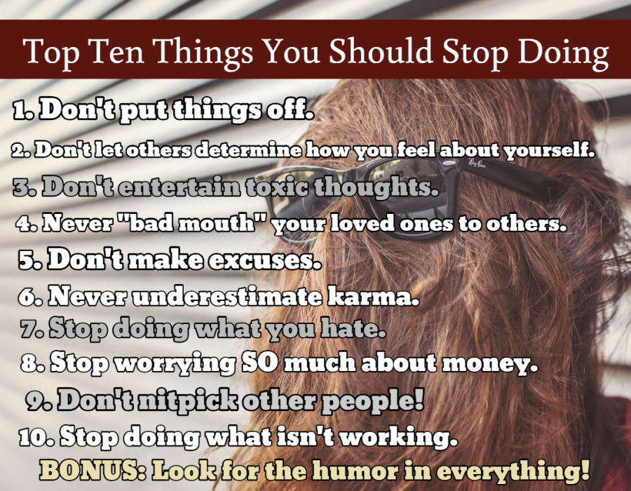 Top Ten Things You Should Stop Doing