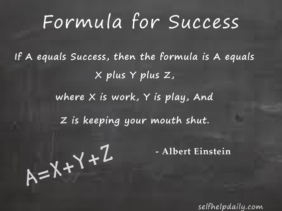 Albert Einstein Quote About the Formula for Success