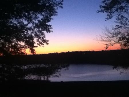 Sunset at Barren River Lake State Resort Park in Kentucky