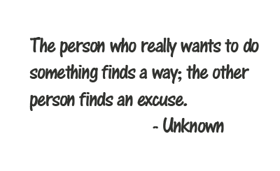 Quote about excuses