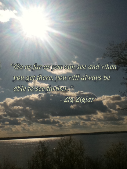 Zig Ziglar quote about growth