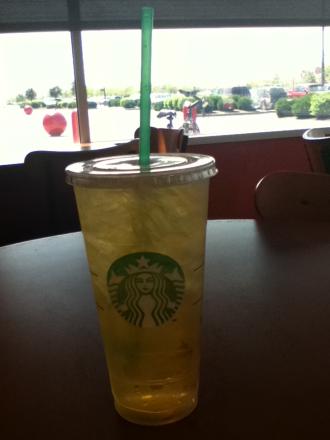 Iced Green Tea From Starbucks
