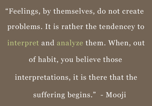 Quote About Thought by Mooji