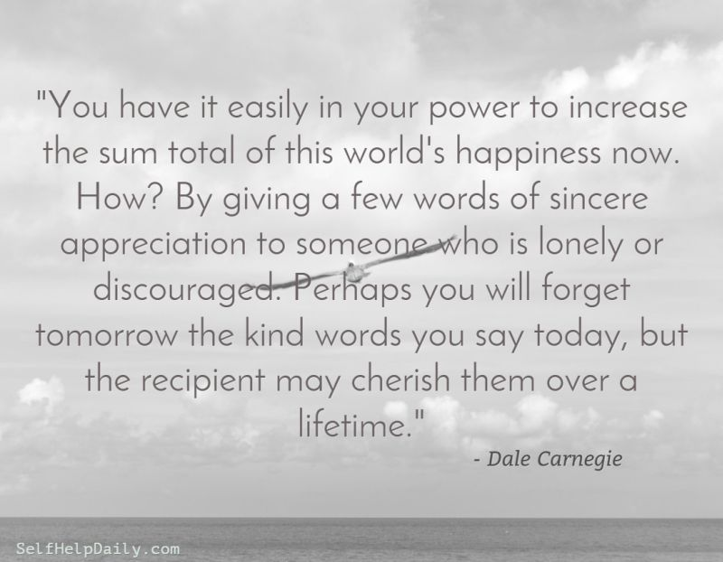 Dale Carnegie Quote About Happiness