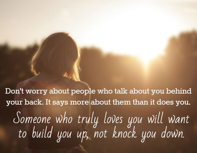 Quote About People Who Talk Behind Your Back