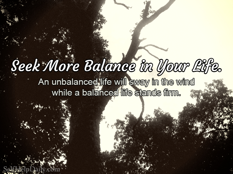 Quote About Finding Balance in Life