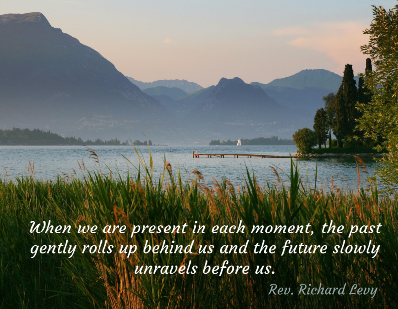 Quote about Peace and Living in the Moment (Present)