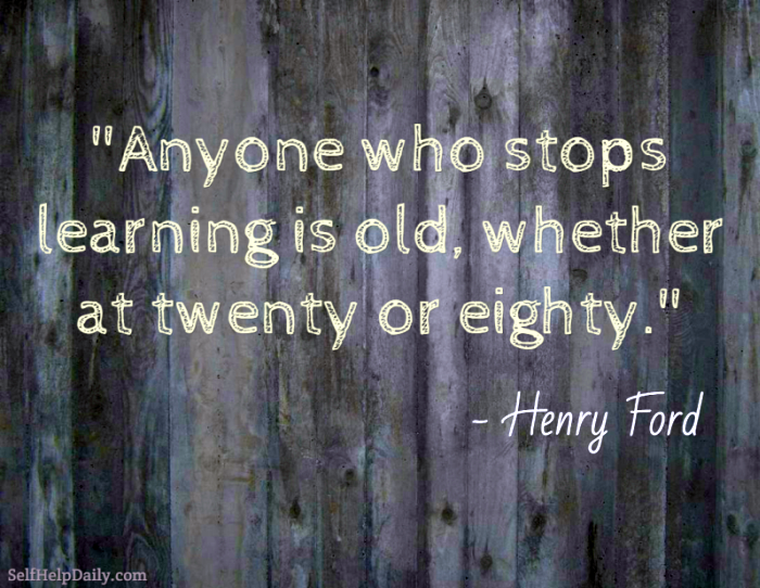 Henry Ford Quote About Learning