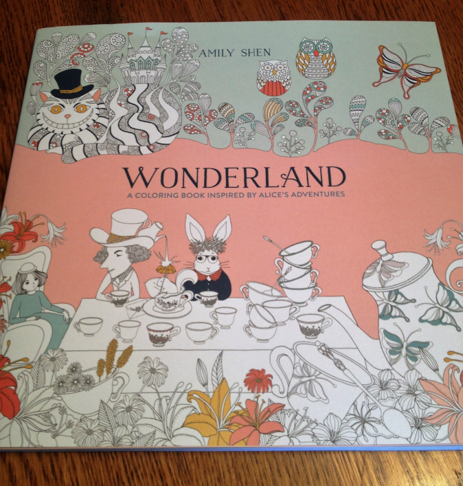 Wonderland Adult Coloring Book by Amily Shen