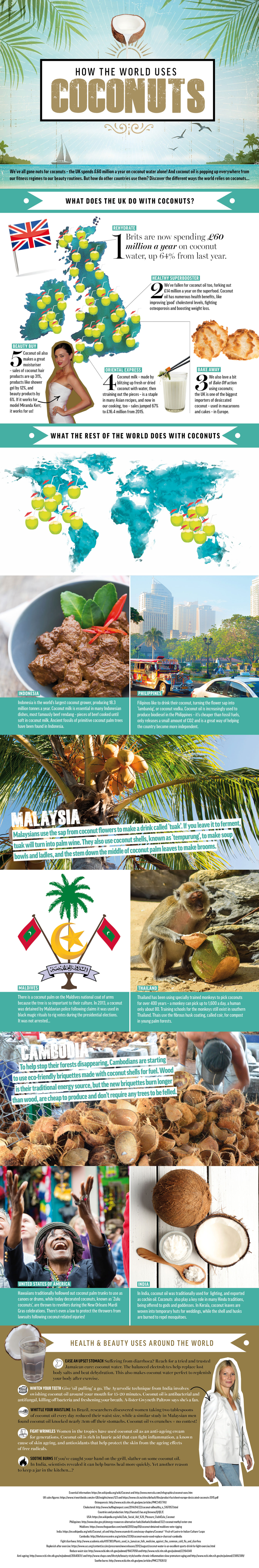 Uses for Coconuts Infographic