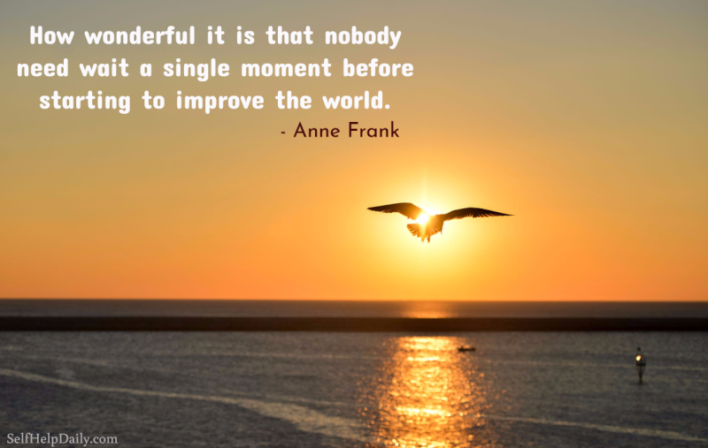Anne Frank Quote Graphic